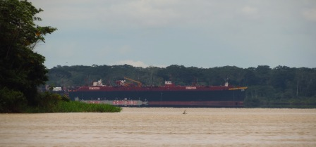 Oil tanker at the Amazon