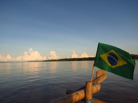 Entering Brazil...