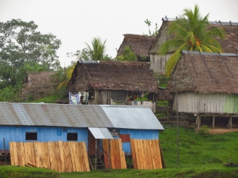 Small communities along the Napo