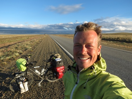 The endless, wind-scorched roads of South Patagonia, where Peycho and I first ran into each-other.