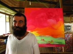 Peycho in the art studio