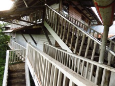 Some of the many wooden walkways that connected the sprawling house of Grippa