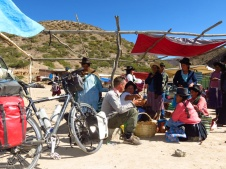 Crossing Bolivia on a bicycle, Peycho and I had many up-front encounters with indigenous people.