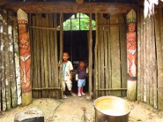 The entrance to the Maloka is guarded by these charachters who wards off evil spirits.