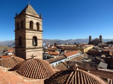 Due to huge amounts of silver, Potosi in Bolivia had constructed some impressive monasteries in its heydays.