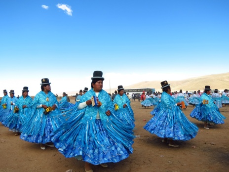While cycling the lonely Bolivian roads, we came across this traditional celebrations near the outskirts of a village.