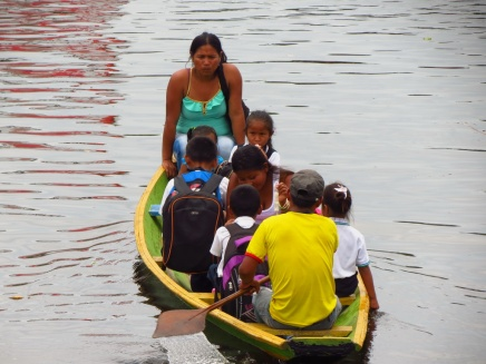 Local kids, going to school. In Leticia at the tri-border