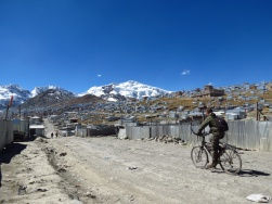 At 5100m, La Rinconada is the highest city on our planet (16730 ft). 30.000 people mine gold here.