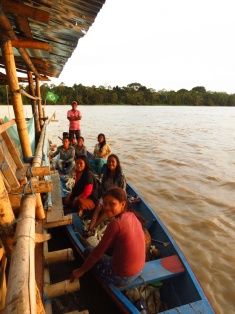 Visited by the Tikuna people, an indigenous tribe, living on the Amazon shore, near the Brazil-Peru border.