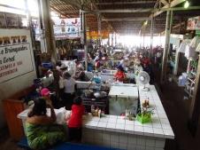 The bustling market in Tefe