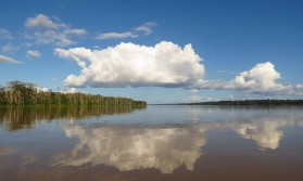 Wonderful cloud reflections over the Amazon