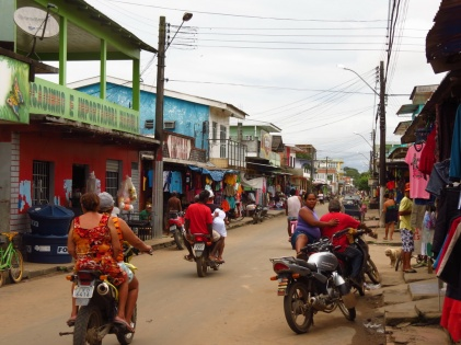 Manacapuru, the first town with road connection that we have seen for 4 months