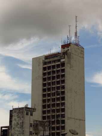The tallest buildings we had yet seen in the Amazon.
