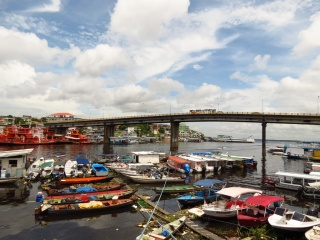 The port of Manaus, where the raft ended its days.