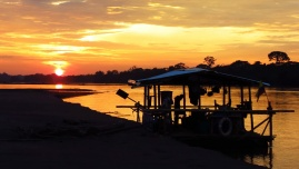 Another day on the river is coming to an end