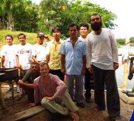 The 5 men that visited our raft early one morning, to make sure we didn't have any bad intentions in the local community.